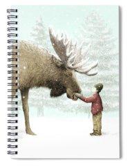 Winter Spiral Notebooks