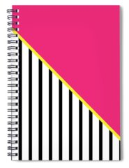 Pink And White Digital Art Spiral Notebooks