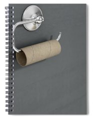 Tissue Paper Digital Art Spiral Notebooks