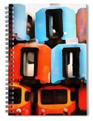 Abandoned Car Digital Art Spiral Notebooks