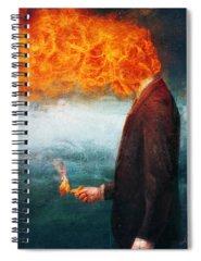 Fire Spiral Notebooks