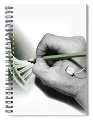 Genetic Manipulation Drawings Spiral Notebooks