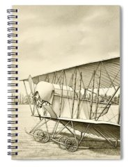 Vintage Aircraft Drawings Spiral Notebooks