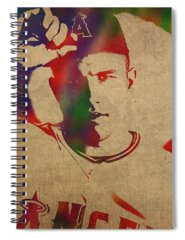 Mike Trout Spiral Notebooks