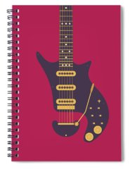 Glam Rock Digital Art Spiral Notebooks