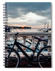 Waves Spiral Notebooks
