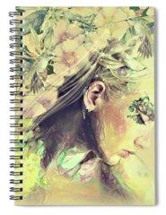 Yellow Trumpet Mixed Media Spiral Notebooks