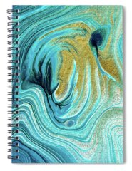 Waves Spiral Notebooks