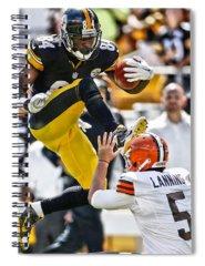 Football Antonio Brown Spiral Notebooks