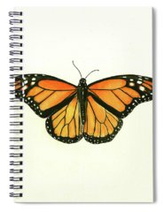 Monarch Butterfly Spiral Notebooks