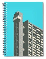 Brutalist Architecture Spiral Notebooks
