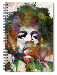 Rock And Roll Jimi Hendrix Music Spiral Notebooks