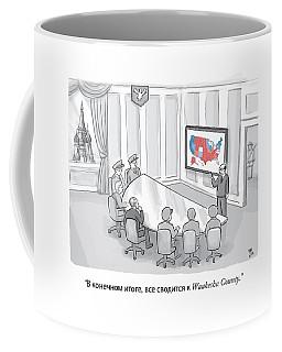 Russian Government Monitors Us Elections Coffee Mug