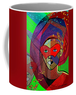 394 - Challenging Woman With Mask Coffee Mug