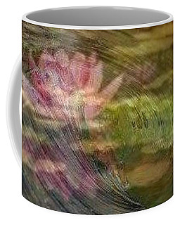 Coffee Mug featuring the painting  A Splash Of Lily by PainterArtist FIN