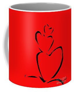 Coffee Mug featuring the painting  A Stack Of Hearts by Go Van Kampen