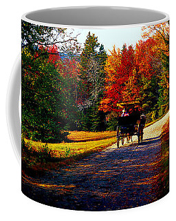Acadia National Park Carriage Trail Fall  Coffee Mug