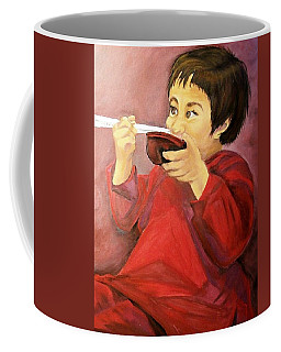 Coffee Mug featuring the painting  Asian  Doll by Sharon Duguay