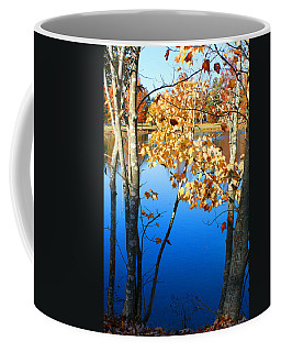 Autumn Trees On The Lake Coffee Mug