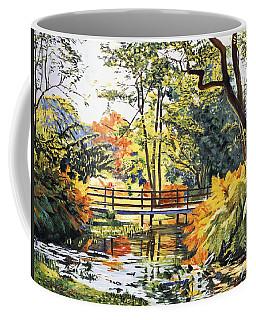 Autumn Water Bridge Coffee Mug