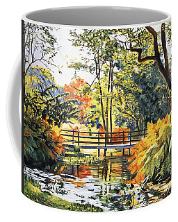 Autumn Water Bridge Coffee Mug