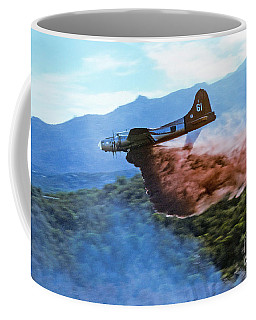 B-17 Air Tanker Dropping Fire Retardant Coffee Mug