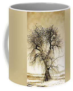 Bird Tree Fine Art  Mono Tone And Textured Coffee Mug