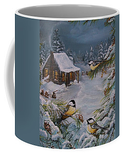 Black Capped   Chickadee's  Coffee Mug