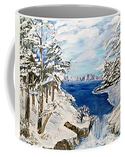 Coffee Mug featuring the painting  Blanket Of Ice by Sharon Duguay