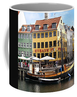 Boat In Nyhavn Coffee Mug by Richard Rosenshein