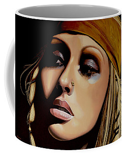 Christina Aguilera Painting Coffee Mug