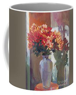 Chrysanthemums In Vase Coffee Mug