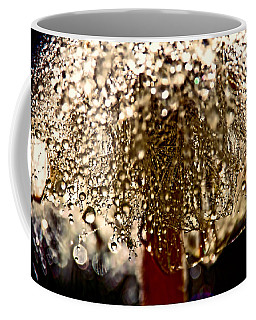Dandelion Dew In Bronze Coffee Mug by Peggy Collins