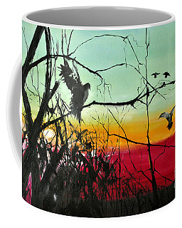 Doves At The Dawn Coffee Mug