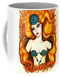 Flower In The Blaze Coffee Mug
