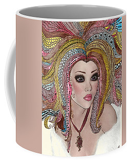 Girl With The Rainbow Hair Coffee Mug