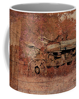 Coffee Mug featuring the digital art  Grandpa's Old Tractor by Ericamaxine Price