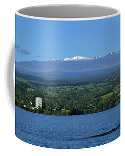 Maunakea Snow Over Hilo Bay Hawaii Coffee Mug