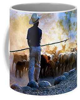 Coffee Mug featuring the photograph  Herder Going Home In Mexico by Phyllis Kaltenbach