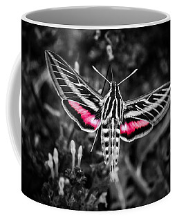 Hummingbird Moth Bw Print Coffee Mug