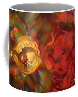 Coffee Mug featuring the photograph  Impressionistic Bouquet Of Red Flowers by Dora Sofia Caputo Photographic Art and Design