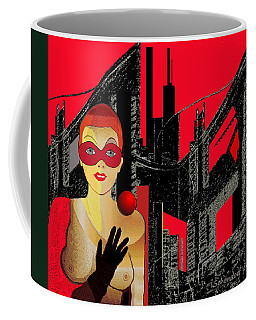 014 - In  Red   City Darkness Coffee Mug