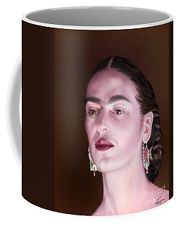 In The Eyes Of Beauty - Frida Coffee Mug