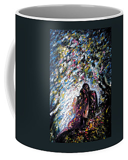 Coffee Mug featuring the painting  Love In Niagara Fall by Harsh Malik