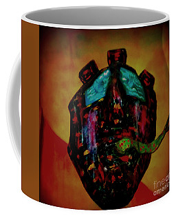 Coffee Mug featuring the photograph  Mask Or Metaphor In Lomo And Edited by Kelly Awad