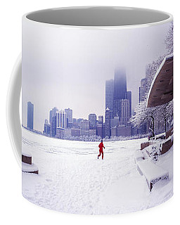 North Ave Beach Chess Palv Chicago Lake Front  Coffee Mug