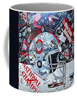 Ohio State University National Football Champs Coffee Mug by Colleen Taylor