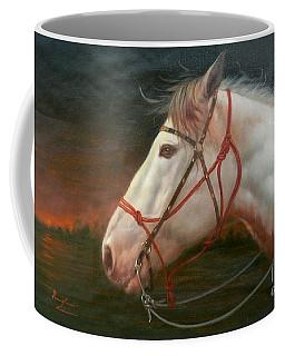 Original Animal Oil Painting Art-horse#16-2-5-21 Coffee Mug by Hongtao     Huang