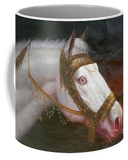 Original Animal Oil Painting Art-horse-03 Coffee Mug by Hongtao     Huang