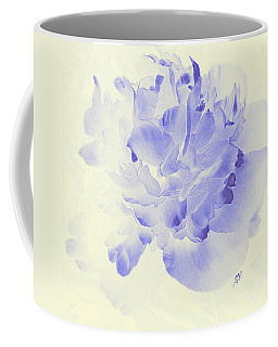 Paeony - Shadow In Blue Coffee Mug